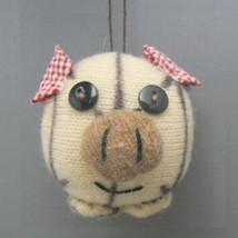 Knit Pig  Christmas Ornament - $5.95