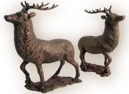 New Cast Iron ELK Wildlife Animal DEER COIN BANK - $46.36