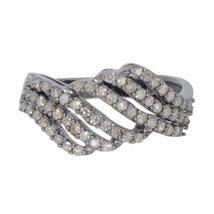 Shine Jewel 92.5 sterling silver champange diamond spiral ring - $74.39