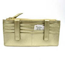 Neiman Marcus Women's ID Wallet Organizer Card Case Saffiano Leather Gold - $44.88
