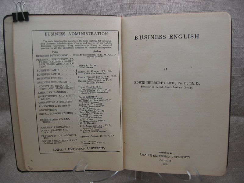 Business English Business Administration Section V LaSalle