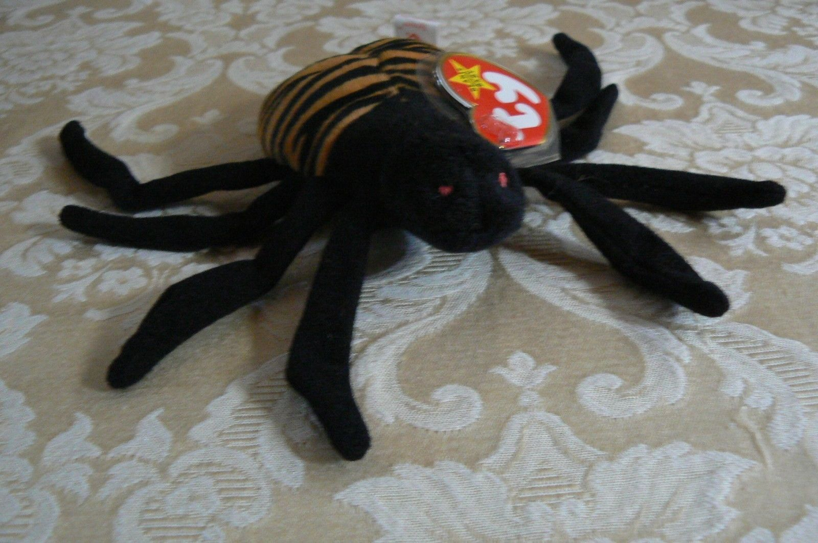 "Rare TY Original Beanie Babies "" Spinner "" The Spide Errors- #4183-Retired-Error"