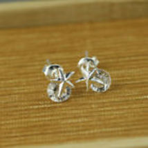 Star Rhinestone Silver Plated Studs ...Combined Shipping  - $1.99