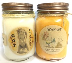 Got peaNUTS? & Chicken Shit - Set of Two 16oz All Natural Soy Candles - $26.99