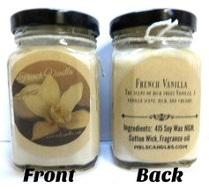 6oz Fench Vanilla - Victorian Square Glass Jar Soy Candle - Made with Es... - $7.35