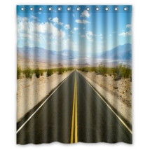 Road To Death Valley #01  Shower Curtain Waterproof Made From Polyester - $31.26+