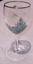 "SPODE CHRISTMAS TREE GREEN 7 1/4"" 12 oz WINE GOBLET - $5.93"