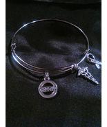 Diabetic Alert/ Awareness Silver Wire Expandable Bracelet  - $7.99