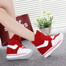 pa015 high & thick wedge swing shoes in spell color, black & red,size 35-40 - $39.90