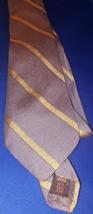 LANVIN  of Paris  100% silk tie Golden stripe tie       T7 - $14.99