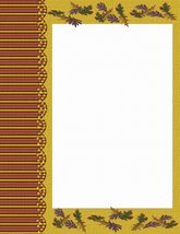 Autumn Leaves Stationery Printer Paper 26 Sheets - $9.89