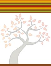 Autumn Tree Stationery Printer Paper 26 Sheets - $9.89