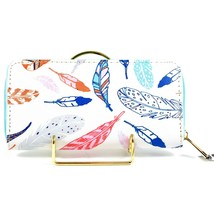 Bijorca Red White Blue Flying Feather Clutch Wallet New w Tags image 2