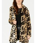 Kensie Leopard-Print Faux-Fur Coat, Small - $78.71