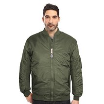 Maximos USA Men's Padded Water Resistant Reversible Flight Bomber Jacket (2XL, G