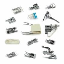 15Pc Domestic Sewing Machine Braiding Blind Stitch Darning Presser Foot ... - $46.63