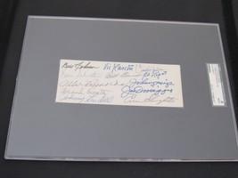 1940'S NEW YORK YANKEE GREATS DIMAGGIO KELLER RASCHI LOPAT SIGNED AUTO C... - $346.49