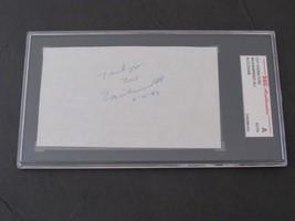 MUHAMMAD ALI CASSIUS CLAY BOXING HOF GREAT SIGNED AUTO VINTAGE CUT SGC A... - $494.99