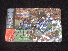 WALTER PAYTON CHICAGO BEARS SBC HOF SIGNED AUTO 10TH ANNVERSITY PHONE CA... - $98.99