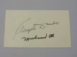 MUHAMMAD ALI ANGELO DUNDEE BOXING HOF GREATS SIGNED AUTO VINTAGE INDEX P... - $692.99