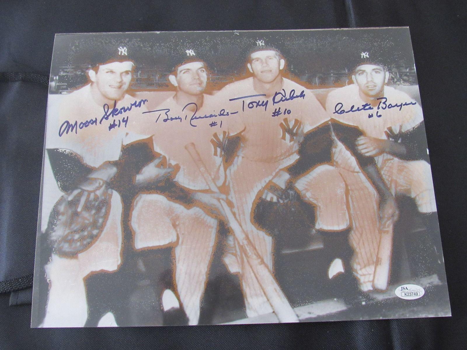 1961 YANKEES INFIELD KUBEK SKOWRON BOYER RICHARDSON SIGNED AUTO 11X14 PHOTO JSA - $217.79