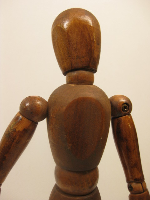 12 Inch Vintage Wood Jointed Artist Model Painting Sculpture Mannequin Doll
