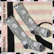 Victoria's Secret Pink Gray White Snowflake Holiday Knee Socks *NEW! - $12.99