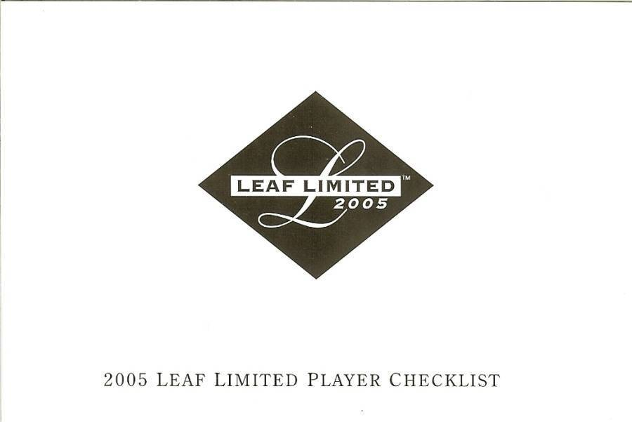 2005 leaf limited baseball check list baseball card