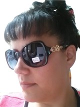 Womens Rhinestones Sunglasses Fashion Designer Shades Retro Large V - $9.97