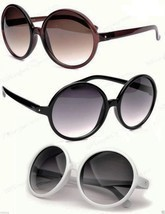 Very Large Round Sunglasses Black Brown or Tortoise Frame Gradient Lenses - £5.73 GBP