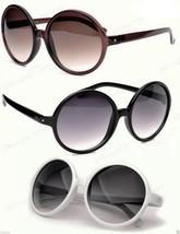 Very Large Round Sunglasses Black Brown or Tortoise Frame Gradient Lenses - $7.69