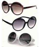 Very Large Round Sunglasses Black Brown or Tortoise Frame Gradient Lenses - $7.99