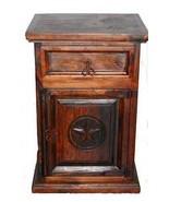 Rustic Dark 1 Drawer 1 Door Nightstand Western Cabin Lodge Solid Wood Be... - $227.70