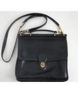 COACH Vintage Black Leather Cross Body Messenge... - $224.99