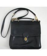 COACH Vintage Black Leather Cross Body Messenge... - $224.99