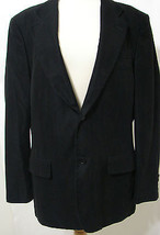 Zara Man 100% Poly Black Soft Rayon Lined Sport Coat 44R - $89.99