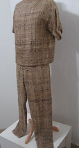 Vintage 50's Tan Boucle 2pc Full Lined Pedal Pusher Pants and Short Matc... - $134.99