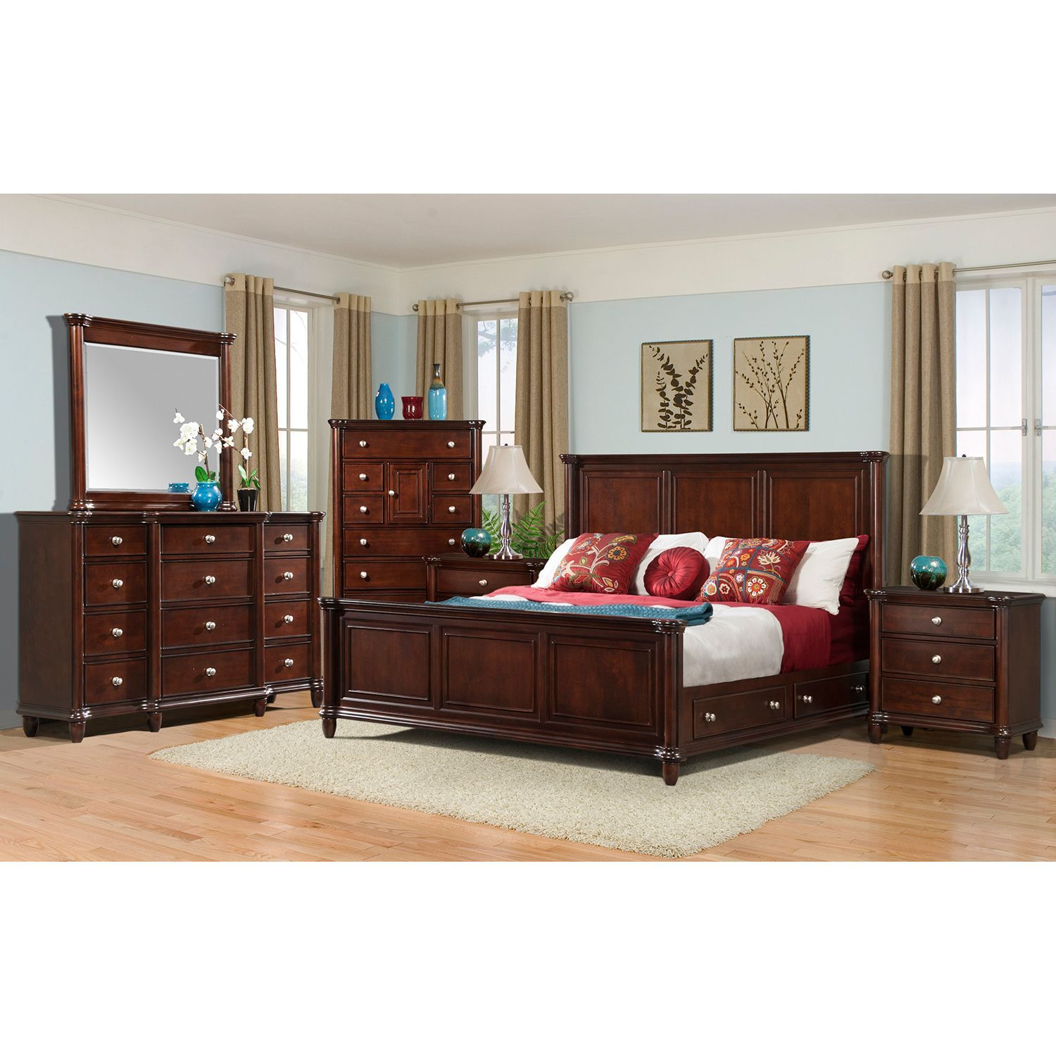 6 pieces king storage bedroom sets storage drawers frame