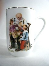 Norman Rockwell The Toymaker 1982 Coffee Mug Cup  - $9.84