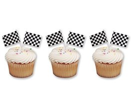 Blenders (Countertop) Checkered Flag Racing Cupcake Picks 48Pack Party F... - $12.33
