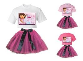 """Dora Ballet Adventure"" Personalized White or Pink Tee & Pink&BlackTutu-NEW - $34.95"
