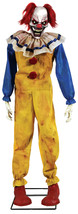 Twitching Clown Animated Prop Lifesize 6 Ft Animatronic Halloween Evil S... - $139.50