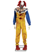 Twitching Clown Animated Prop Lifesize 6 Ft Animatronic Halloween Evil S... - $139.50