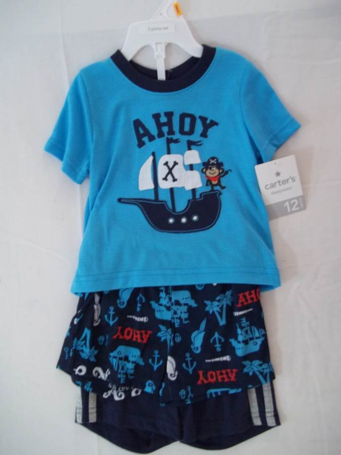 Carter/'s Infant Boy/'s 3 Pc Pirate Octopus Pajama Set NWT Size 12 Months
