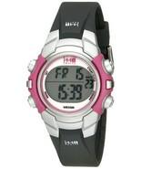 NWOT Timex Women's T5J151 1440 Sports Digital Black/Pink Resin Strap Watch - $32.66