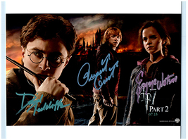 HARRY POTTER -RADCLIFFE,WATSON & GRINT Signed Autographed Photo w/COA 41029 - $195.00