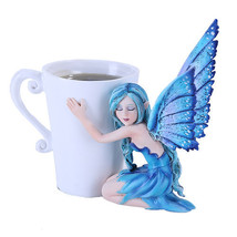 Amy Brown Coffee Comfort Relaxing Faery Fantasy Art Statue Tea Cup - $26.50