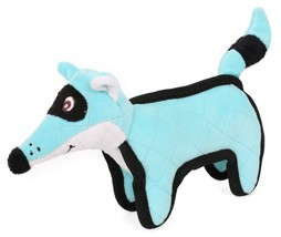 Pet Life Foxy-Tail Quilted Plush Animal Squeak Chew Tug Dog Toy (DT28)