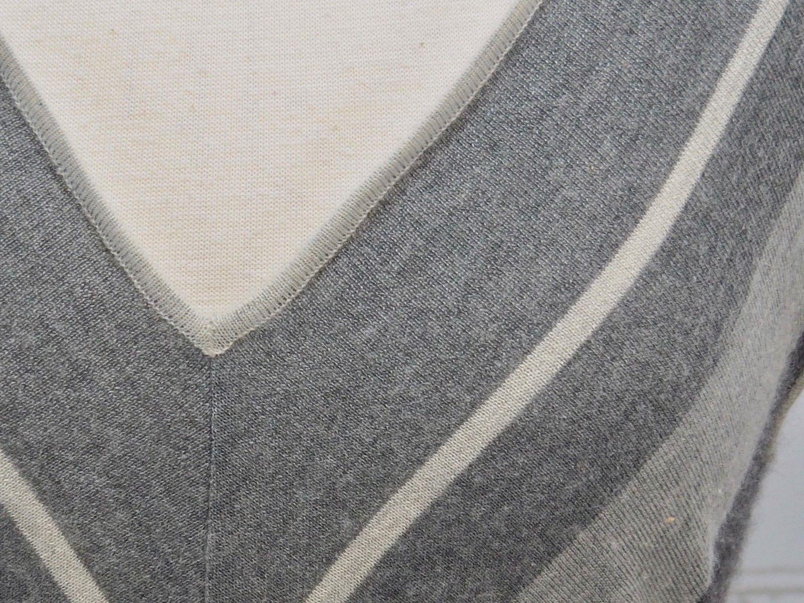 4b7e62da59a397 RALPH LAUREN Cashmere Silk Black Label Sleeveless Sweater Vest Gray Stripes  Med