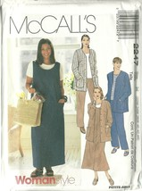 McCall's Sewing Pattern 2247 Womens Jacket Jumper Top Pants Size 22W 24W... - $14.99